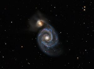 The Whirlpool Galaxy (M51) from Nerpio, Spain